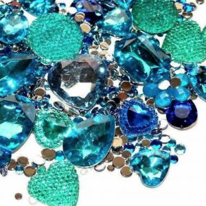 blue mermaid face gems