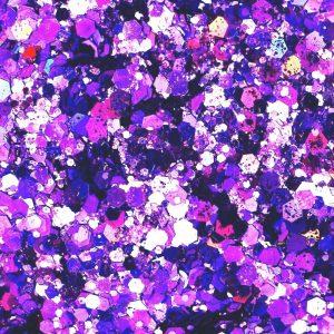 purple chunky glitter shrine